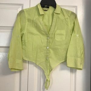 Small neon green blouse
